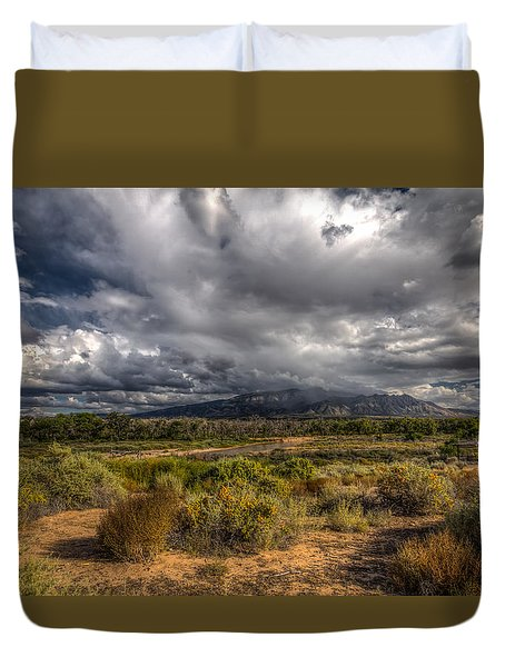 Duvet Cover featuring the photograph Towards Sandia Peak by Ross Henton