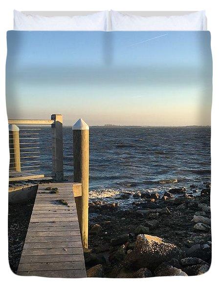 Towards The Bay Duvet Cover
