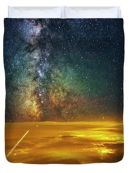 Towards The Core Duvet Cover