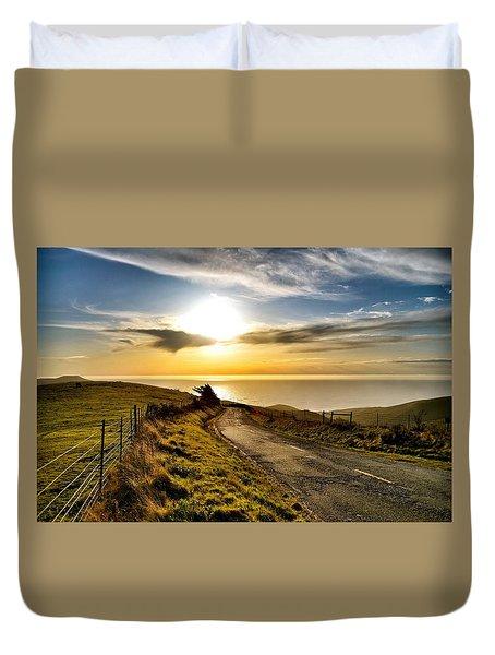 Towards The Sunset Duvet Cover