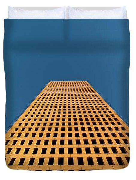 Tower At Sunset Duvet Cover