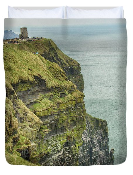 Tower At The Cliffs Of Moher Duvet Cover