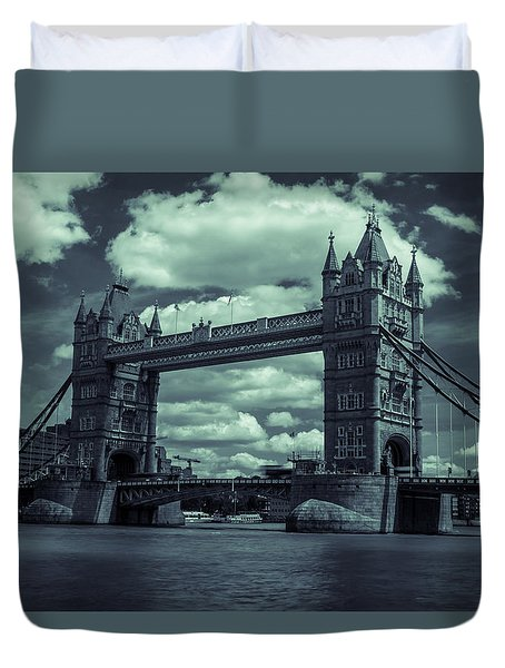 Tower Bridge Bw Duvet Cover