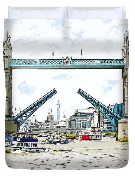 Tower Bridge London England Duvet Cover