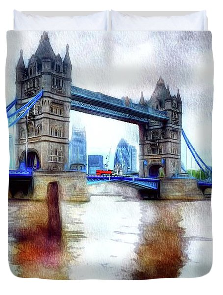 Tower Bridge, London Duvet Cover