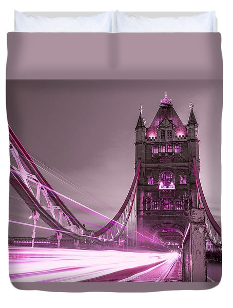 Tower Bridge London Duvet Cover by Suzanne Powers
