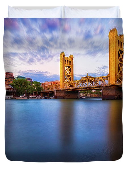 Tower Bridge Sacramento 3 Duvet Cover