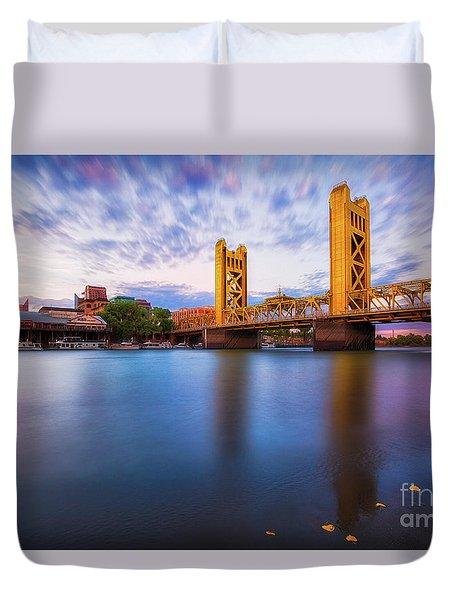 Tower Bridge Sacramento 3 Duvet Cover