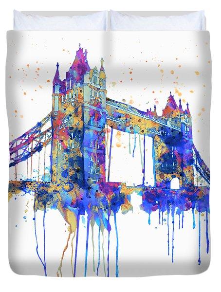 Tower Bridge Watercolor Duvet Cover