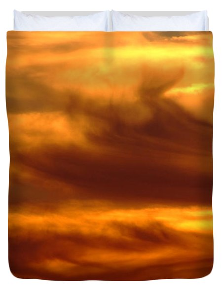 Tower In Sunset Duvet Cover