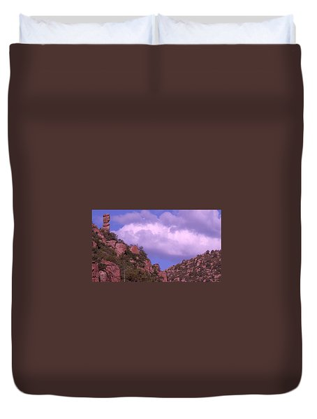 Tower Mountain Duvet Cover