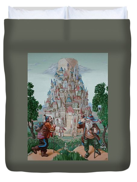 Tower Of Babel Duvet Cover