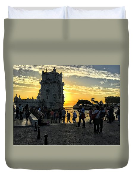 Tower Of Belem Duvet Cover