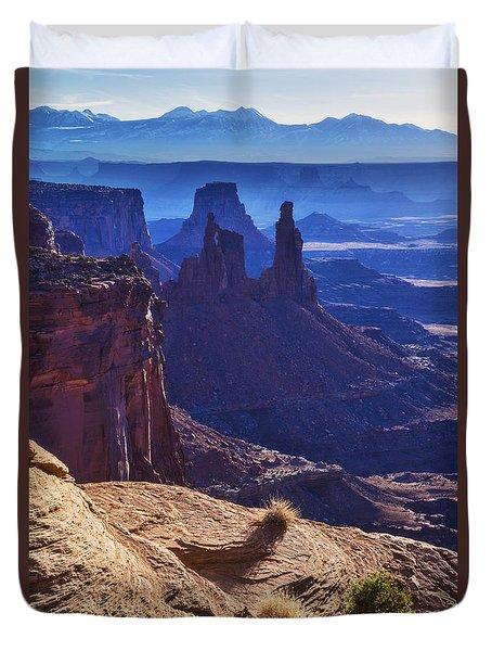 Tower Sunrise Duvet Cover by Chad Dutson