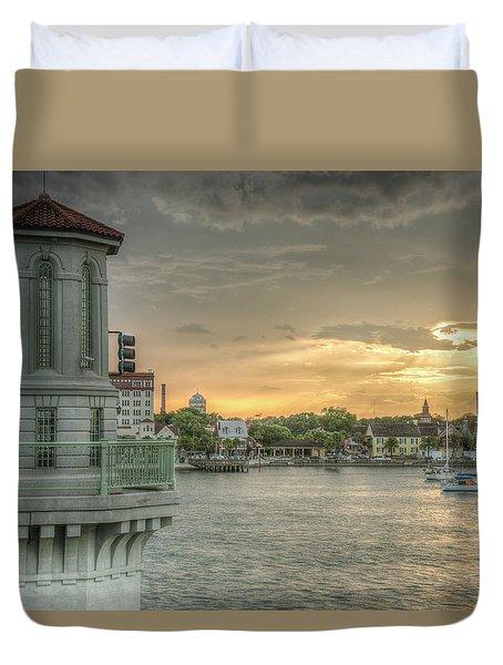 Tower Sunset Duvet Cover