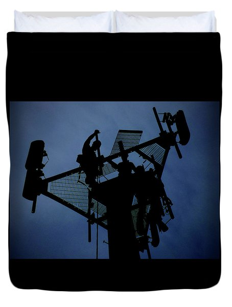 Duvet Cover featuring the photograph Tower Top by Robert Geary
