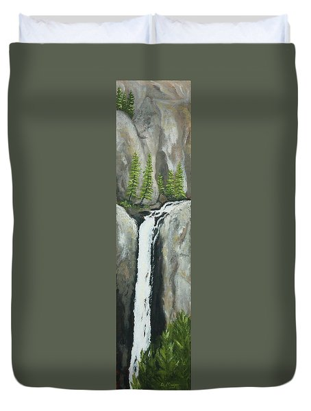 Towering Falls Duvet Cover