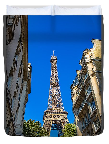 Towering Landmark Duvet Cover by Kim Wilson
