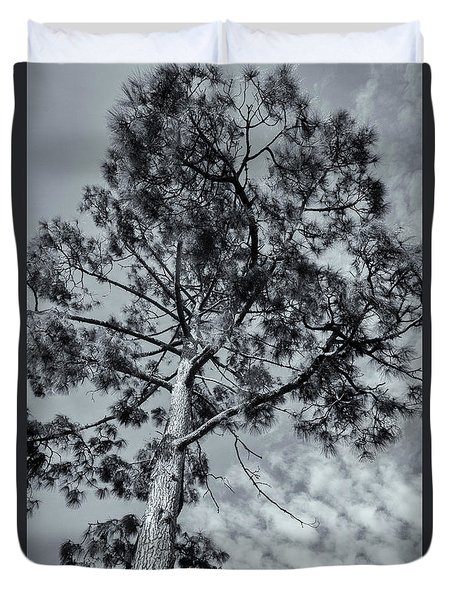Duvet Cover featuring the photograph Towering by Linda Lees