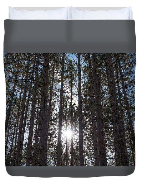 Towering Pines Duvet Cover