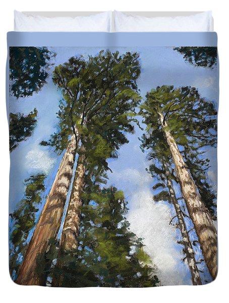 Towering Sequoias Duvet Cover