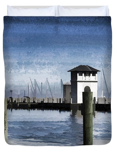 Towers And Masts Duvet Cover