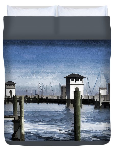 Towers And Masts Duvet Cover by Roberta Byram