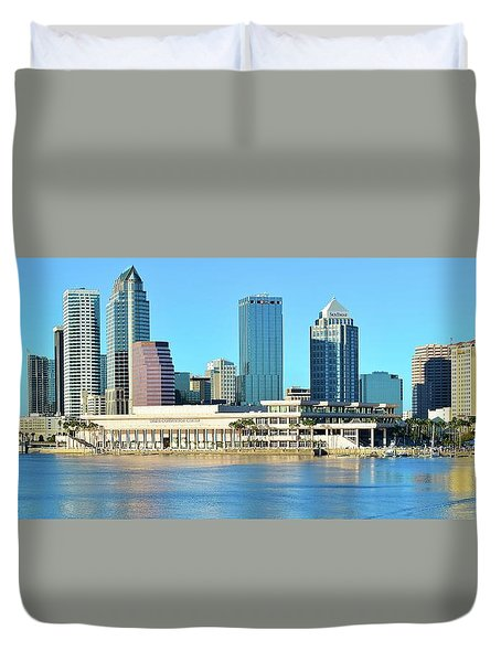 Duvet Cover featuring the photograph Towers By The Bay by Frozen in Time Fine Art Photography