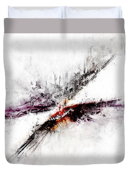 Duvet Cover featuring the digital art Towers by Claire Bull