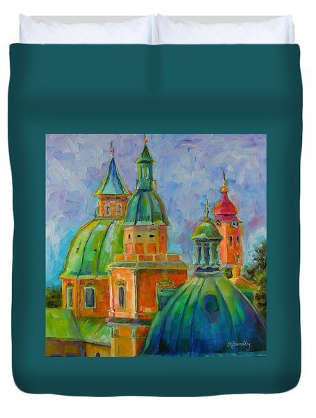 Towers Of Salzburg Duvet Cover