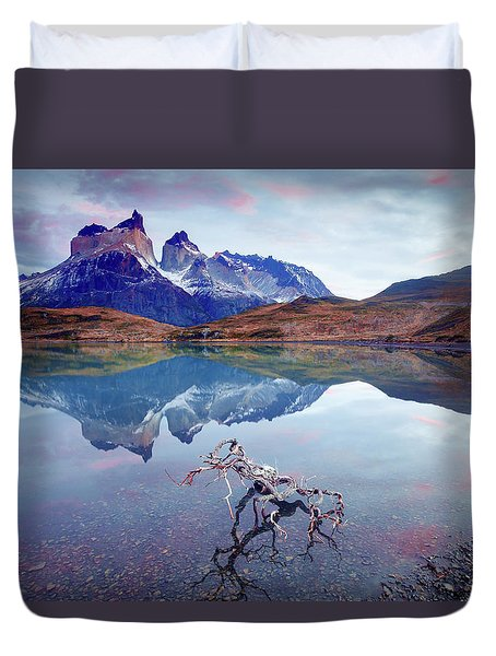 Towers Of The Andes Duvet Cover by Phyllis Peterson