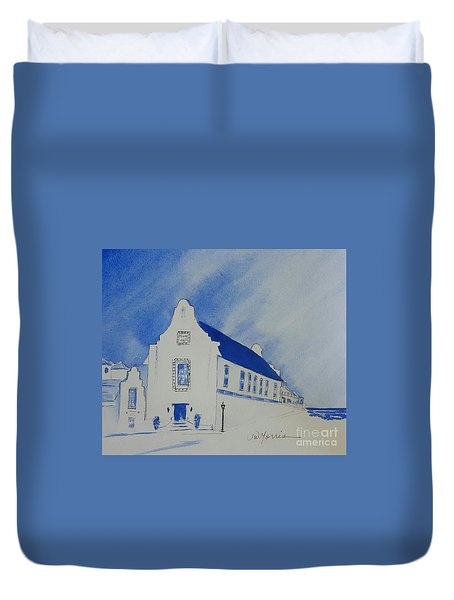 Town Hall, Rosemary Beach Duvet Cover