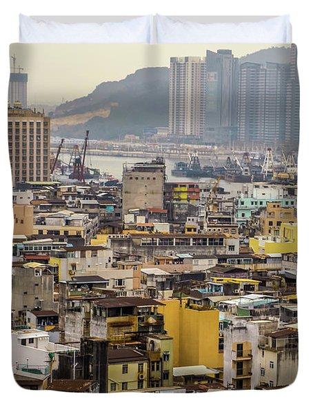 Town In Macau Duvet Cover