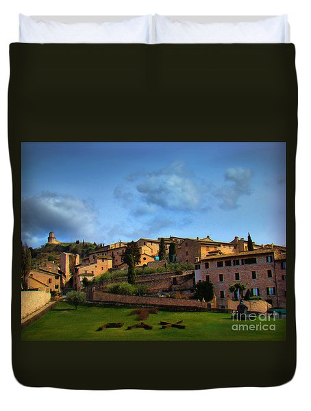 Town Of Assisi, Italy II Duvet Cover by Al Bourassa