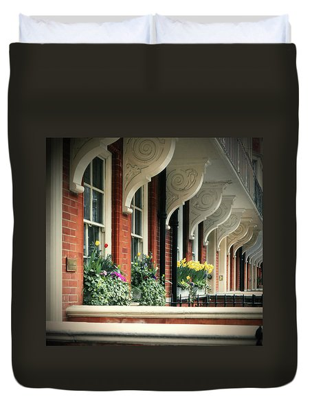 Townhouse Row - London Duvet Cover