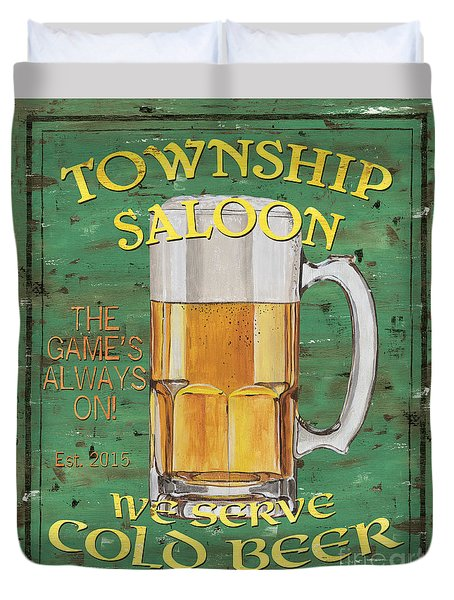 Township Saloon Duvet Cover