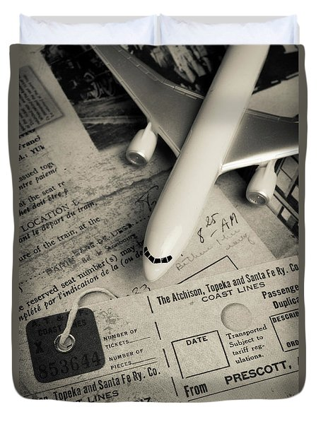 Toy Airplane II Duvet Cover by Edward Fielding