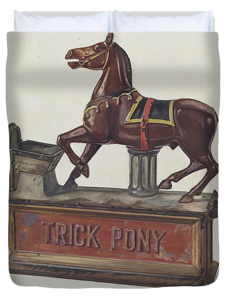 Toy Bank - Trick Pony Duvet Cover