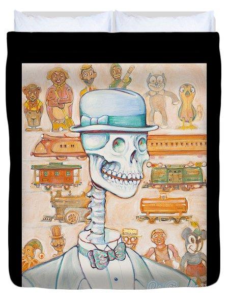 Toy Bones Duvet Cover