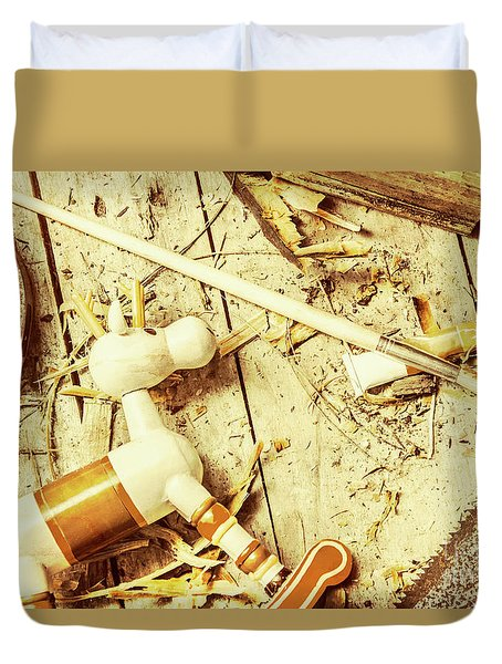 Toy Making At Santas Workshop Duvet Cover by Jorgo Photography - Wall Art Gallery