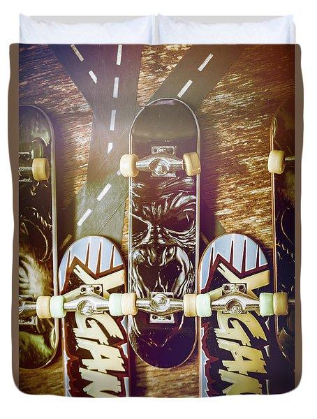 Toy Skateboards Duvet Cover