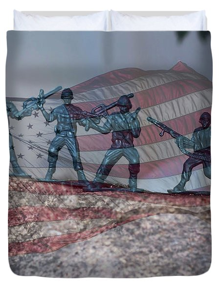 Toy Soldiers Duvet Cover