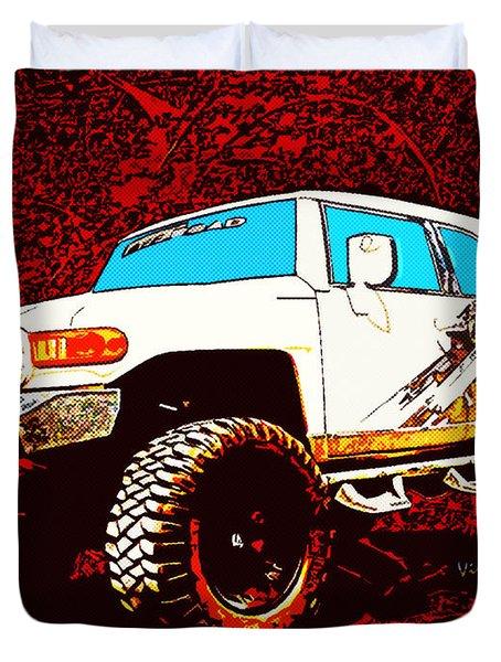 Toyota Fj Cruiser 4x4 Cartoon Panel From Vivachas Duvet Cover