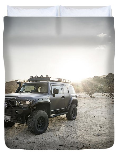Toyota Fj Cruiser In Saudi Arabia Duvet Cover