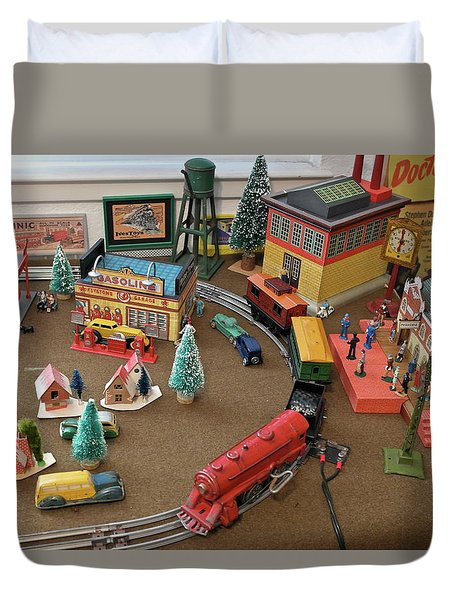Toytown - Train Set Overview Duvet Cover