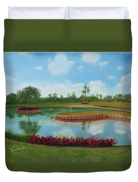Tpc Sawgrass 17th Hole Duvet Cover