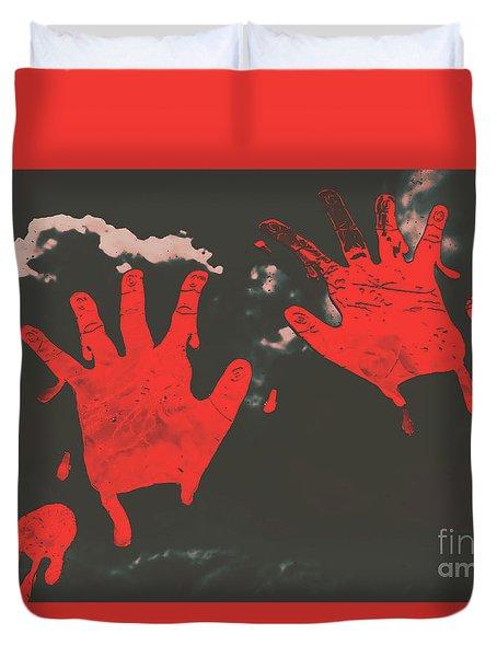 Trace Of A Serial Killer Duvet Cover
