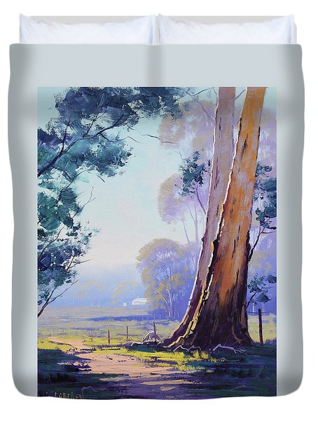 Track To The Farm Duvet Cover