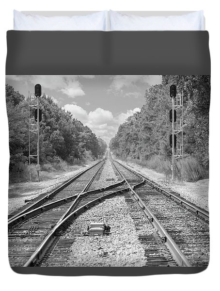 Duvet Cover featuring the photograph Tracks 2 by Mike McGlothlen