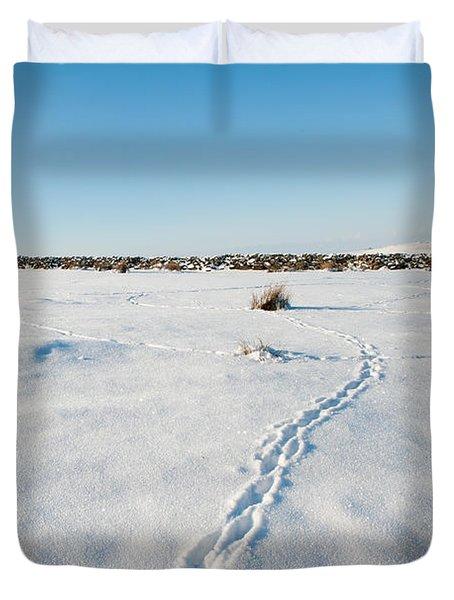 Tracks In The Snow Duvet Cover